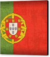 Portugal Flag Vintage Distressed Finish Canvas Print by Design Turnpike