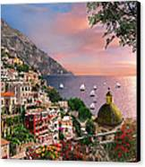 Positano Canvas Print by Dominic Davison