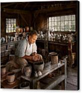 Potter - Raised In The Clay Canvas Print by Mike Savad