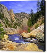 Poudre Canyon Canvas Print by Bob Beardsley
