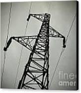 Power Pole Canvas Print by Bernard Jaubert