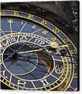 Prague Orloj Canvas Print by Adam Romanowicz