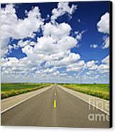 Prairie Highway Canvas Print by Elena Elisseeva