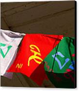 Prayer Flags Canvas Print by Angela Wright