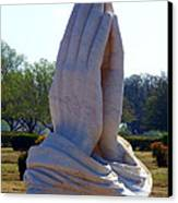 Praying Hands Statue Canvas Print by David G Paul