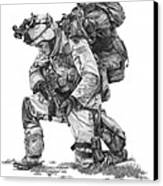 Praying  Soldier  Canvas Print by Murphy Elliott