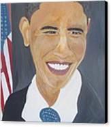 President  Barack Obama Canvas Print by John Onyeka