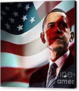 President Barack Obama Canvas Print by Marvin Blaine