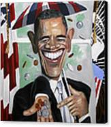 President Barock Obama Change Canvas Print by Anthony Falbo