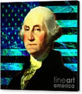 President George Washington V2 P138 Square Canvas Print by Wingsdomain Art and Photography