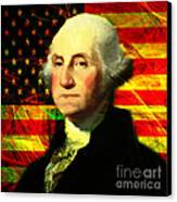 President George Washington V2 Square Canvas Print by Wingsdomain Art and Photography