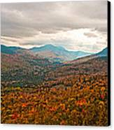Presidential Range In Autumn Watercolor Canvas Print by Brenda Jacobs