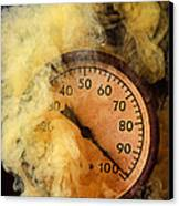 Pressure Gauge With Smoke Canvas Print by Garry Gay