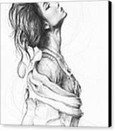Pretty Lady Canvas Print by Olga Shvartsur