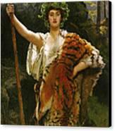 Priestess Bacchus Canvas Print by John Collier