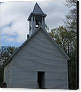Primative Baptist Church In Cades Cove Canvas Print by Roger Potts