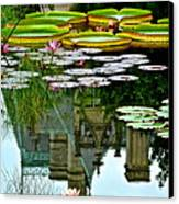 Prince Charmings Lily Pond Canvas Print by Frozen in Time Fine Art Photography