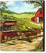Produce Stand Canvas Print by Lee Piper
