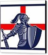 Proud To Be English Happy St George Day Card Canvas Print by Aloysius Patrimonio