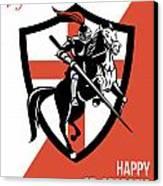 Proud To Be English Happy St George Day Retro Poster Canvas Print by Aloysius Patrimonio