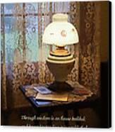 Proverbs 24 3 Through Wisdom Is An House Builded Canvas Print by Susan Savad