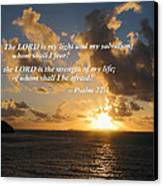 Psalm 27 1 The Lord Is My Light Canvas Print by Susan Savad