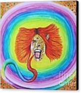 Psychedelic Art Painting Canvas Print by Jeepee Aero