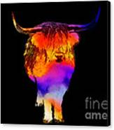 Psychedelic Bovine Canvas Print by Pixel Chimp