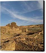 Pueblo Bonito Walls And Rooms Canvas Print by Feva  Fotos