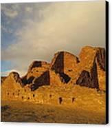 Pueblo Del Arroyo At Sunset II Canvas Print by Feva  Fotos