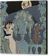 Puppets Canvas Print by Georges Barbier