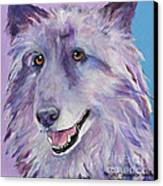 Puppy Dog Canvas Print by Pat Saunders-White