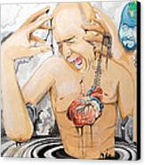 Purge Canvas Print by Lazaro Hurtado
