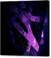 Purple Abstract Geometric Canvas Print by Mario Perez