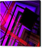 Purple And Red Art Canvas Print by Mario Perez