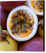 Purple And Yellow Passion Fruit Canvas Print by James Temple