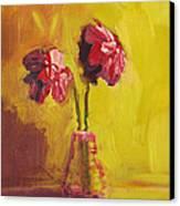Purple Flowers Canvas Print by Patricia Awapara