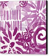 Purple Garden - Contemporary Abstract Watercolor Painting Canvas Print by Linda Woods