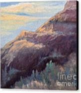 Purple Mountain Canvas Print by Arlene Baller