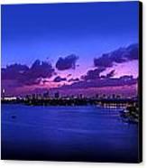 Purple Sunset Canvas Print by Michael Guirguis