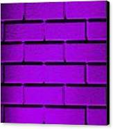Purple Wall Canvas Print by Semmick Photo