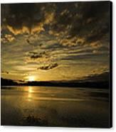 Queen Charlotte-haida Gwaii-sunset-1 Canvas Print by Evan Spellman