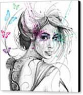 Queen Of Butterflies Canvas Print by Olga Shvartsur