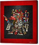 Quetzalcoatl In Human Warrior Form - Codex Borgia Canvas Print by Serge Averbukh