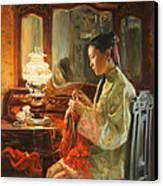Quiet Evening Canvas Print by Victoria Kharchenko