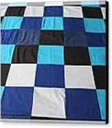 Quilt Blue Blocks Canvas Print by Barbara Griffin