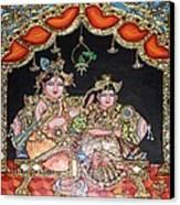 Radha Krishna Canvas Print by Jayashree