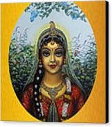 Radha Canvas Print by Vrindavan Das