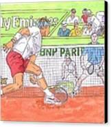 Rafa Vs. Novak Canvas Print by Steven White