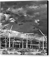 Rage Of The Wind Palm Springs Canvas Print by William Dey